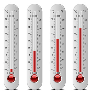 set of 4 thermometers